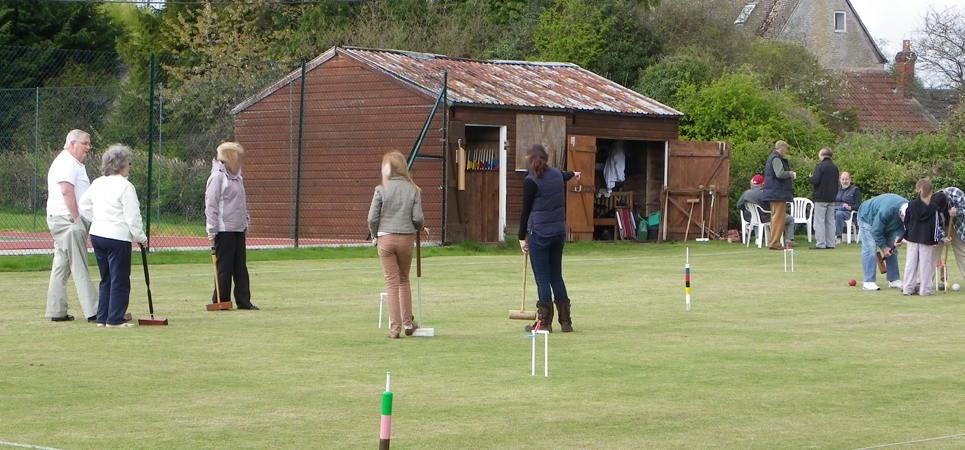 The Croquet Court at Kington Langley Croquet Club